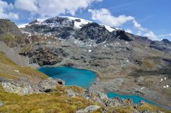 Cime Bianche, Аоста ` Valle d, Италия стоковое фото rf