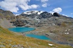 CIME Bianche, Valle δ ` Aosta, Ιταλία Στοκ εικόνες με δικαίωμα ελεύθερης χρήσης