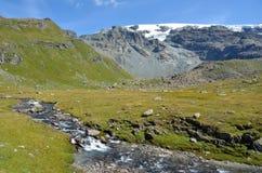 CIME Bianche, Valle δ ` Aosta, Ιταλία Στοκ φωτογραφίες με δικαίωμα ελεύθερης χρήσης