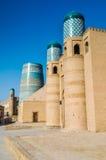 Cime blu in Khiva fotografia stock libera da diritti