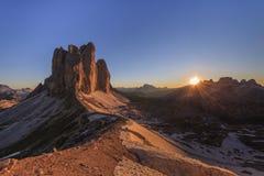 CIME de Tre ALPES DA DOLOMITE, ITALY imagens de stock royalty free
