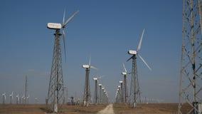 Cime dei mulini a vento al sole archivi video