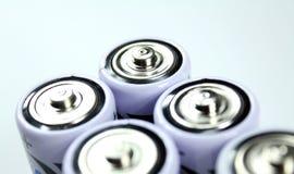 Cime della batteria Fotografie Stock