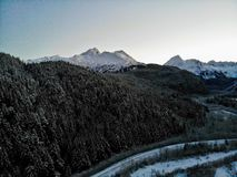 Cime della montagna nell'Alaska immagini stock libere da diritti