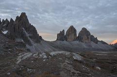 Cime di Lavaredo or Drei Zinnen Stock Images