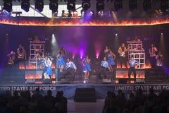 Cime nel concerto blu Immagini Stock Libere da Diritti