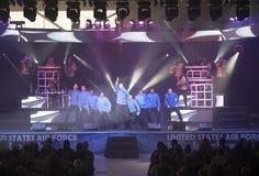 Cime nel concerto blu Fotografie Stock