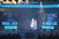 Cime nel concerto blu Immagine Stock Libera da Diritti