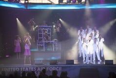 Cime nel concerto blu Fotografia Stock