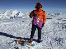 Cimeira, 8201m. Fotografia de Stock