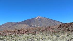 Cimeira da montanha - vale do deserto da paisagem da cratera de Vulcano - Pico del Teide filme