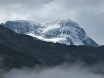 A cimeira de Breithorn. Foto de Stock