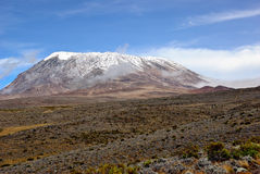 Cimeira de Kilimanjaro Foto de Stock Royalty Free