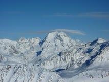 Cimeira de Mont Blanc em França Foto de Stock