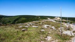 Cimeira de Sniezka em montanhas de Karkonoszone Imagem de Stock Royalty Free