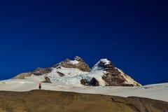 Cimeira de uma montanha no patagonia imagens de stock royalty free