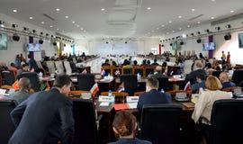 Cimeira do Francophonie realizado em Antananarivo, Madagáscar imagem de stock royalty free