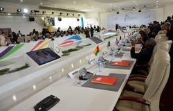 Cimeira do Francophonie realizado em Antananarivo, Madagáscar fotos de stock