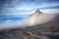 Cimeira do Monte Kinabalu Foto de Stock