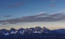 Cimeiras da montanha Imagem de Stock