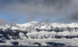 Cimeiras da montanha Fotos de Stock Royalty Free