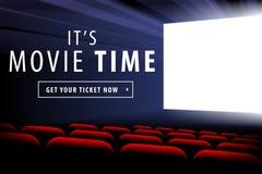 Cinema screen view Stock Image