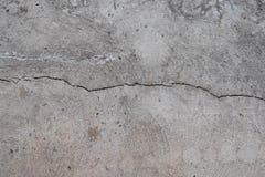 Ciment de fissuration Photo stock