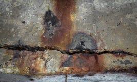 Ciment de fissuration Images stock