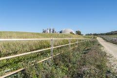 Cimente a fábrica, impacto ambiental, Jerez de la Frontera, Spai Fotografia de Stock Royalty Free