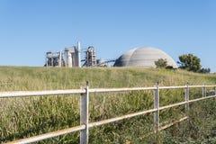 Cimente a fábrica, impacto ambiental, Jerez de la Frontera, Spai Imagem de Stock