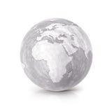 Cimente a ilustração Europa do globo 3D e o mapa de África Foto de Stock