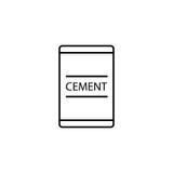 Cimente a linha ícone do saco, elementos do reparo da construção ilustração stock