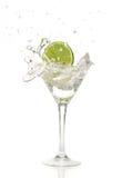 Cimente o espirro em um cocktail Fotografia de Stock