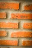Cimento da parede de tijolo foto de stock