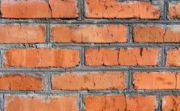 cimento da textura do fundo da parede de tijolo vermelho velho imagens de stock