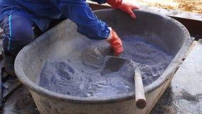 Cimento de mistura para a construção filme