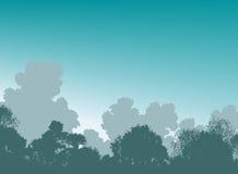 Cimes d'arbre de régfion boisée illustration libre de droits