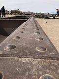 Cimetary pociąg w Uyuni Boliwia, Ameryka Południowa zdjęcia royalty free