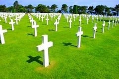 Cimetery dell'americano della Normandia fotografie stock