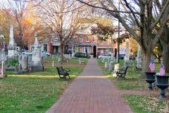 Cimetière à Lancaster, PA images libres de droits