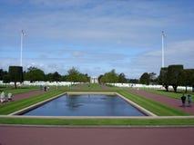 Cimetière américain en Normandie Images libres de droits