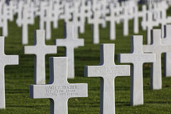 Cimetière américain en St James Images libres de droits