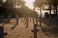 Cimetière américain et Memeorial Images libres de droits