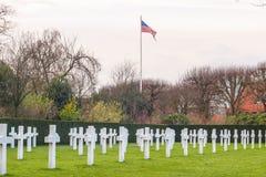 Cimetière américain Waregem Belgique de champ de la Flandre Images libres de droits