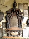 Cimetière au centre de la ville Salzbourg, Autriche Photographie stock libre de droits