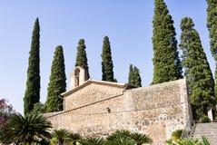 Cimetière baléare de Cypress Majorca Photographie stock libre de droits