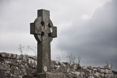 Cimetière celtique Images libres de droits