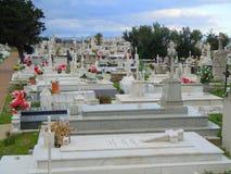Cimetière chrétien au Gibraltar photos libres de droits