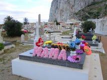 Cimetière chrétien au Gibraltar image stock