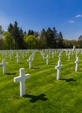 Cimetière commémoratif américain de la deuxième guerre mondiale au Luxembourg image libre de droits